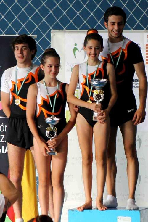 Lluvia de medallas en el Campeonato de Andalucía de Gimnasia Acrobática