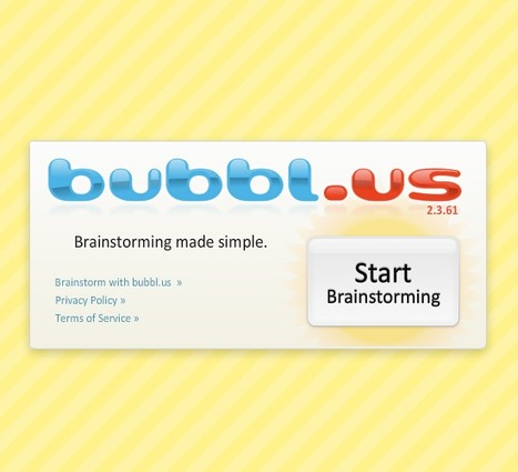 bubbl.us | brainstorm and mind map online | Technology and English | Scoop.it