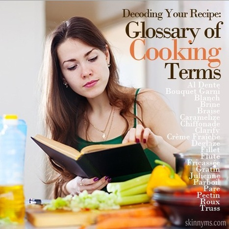 Decoding Your Recipe: Glossary of 20 Cooking Terms - Skinny Ms. | Translation & Terminology | Scoop.it