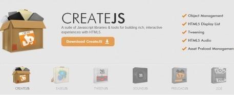 Create.JS - Une suite d'outils créés pour une expérience riche avec HTML5   JFPalmier   WebDevelopment   Scoop.it