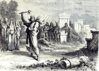Merovingian king Clovis as founder of St. Genevieve. | The Merovingian Kingdoms | Scoop.it