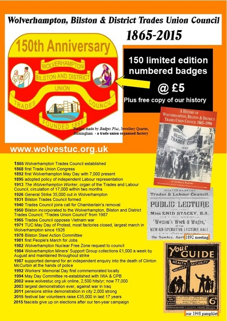 Wolverhampton Trades Council - 150 years old | Trade unions and social activism | Scoop.it