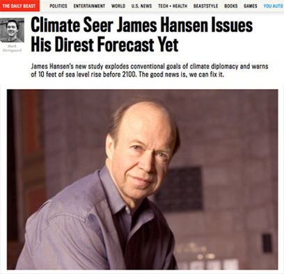 Debate Begins on Hansen's New Warning | Sustain Our Earth | Scoop.it