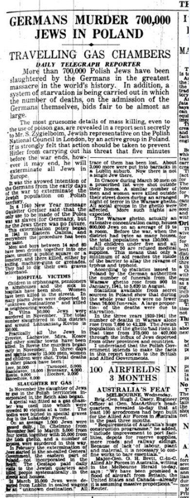 Holocaust Memorial Day: Telegraph revealed Nazi gas chambers three years before liberation of Auschwitz - Telegraph | La Longue-vue | Scoop.it