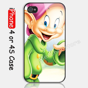 Disney Snow White 7 Dwarf Dopey Custom iPhone 4 or 4S Case | Merchanstore - Accessories on ArtFire | Custom iPhone 4 or 4S Case Cover | Scoop.it