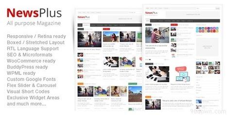NewsPlus v1.0.6 Magazine/Editorial WordPress Theme   Download Free Full Scripts   mi 1 topic   Scoop.it