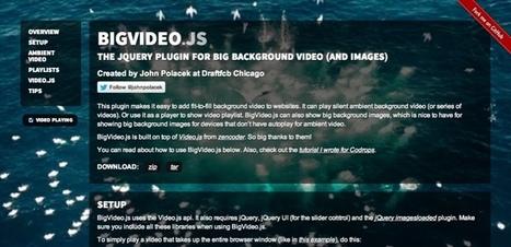 BigVideo.js : intégrer une vidéo en arrière plan ... - Ideo Webdesign   Web design   Scoop.it