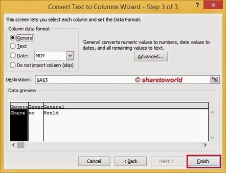 How to Separate Text in Columns in Ms. Excel 2010   Share to World   Microsoft Excel   Scoop.it