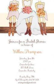 BRIDAL SHOWER INVITATIONS WITH MAIDS IN A ROW | Shop for Home | Scoop.it
