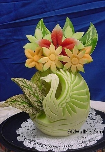 Amazing Creativity Thai Fruit Carving | Funny Pic And Wallpapers | Scoop.it