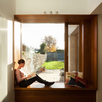 House extension by GKMP Architects includes a wooden window seat | Architecture and Design | Scoop.it
