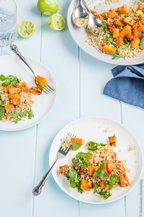 Lime, Chili and Roasted Pumpkin Quinoa Salad | Meatless mondays | Scoop.it