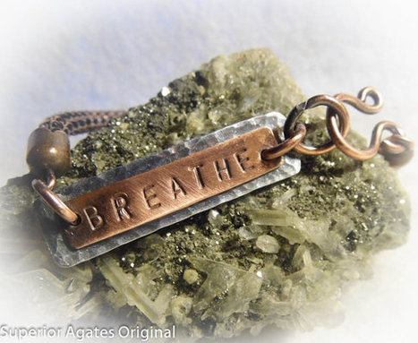 Antiqued Copper Viking Knit Hand Stamped Breathe Bracelet Bangle | Wire Wrapped Jewelry | Scoop.it