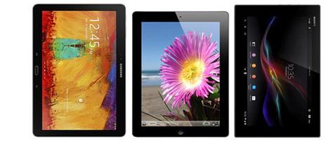 Samsung Galaxy Note 10.1 (2014) vs. Apple iPad 4 vs. Sony Xperia Tablet Z: A ... - GSMArena.com (blog) | 21st Century IT in Schools | Scoop.it