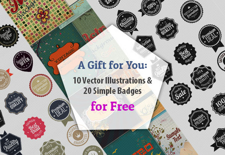 Free Deal: 10 Vector Illustrations & 20  Vector Badges - Commercial use ok | Offer ends soon | Misc | Scoop.it