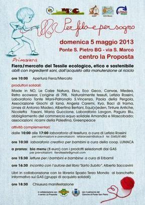 Per Filo e Per Sogno - Fiera del Tessile etico ecologico e sostenibile | Rete GAS Bergamo | SOS FASHION | Scoop.it