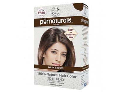 Buy Purnaturals 100% Natural Hair Colour (Dark Brown) Online | Herbal and Natural Hair Color | Scoop.it