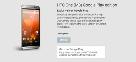 HTC One M8 Google Play edition listing goes live in the Play Store | WebSpydr | Scoop.it