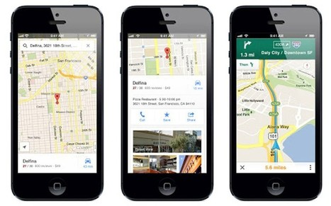 Google maps app returns to iPhone | Pierre Paperon | Scoop.it