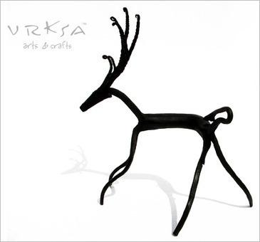 Bastar Wrought Iron Craft - Deer II | Arty Craft