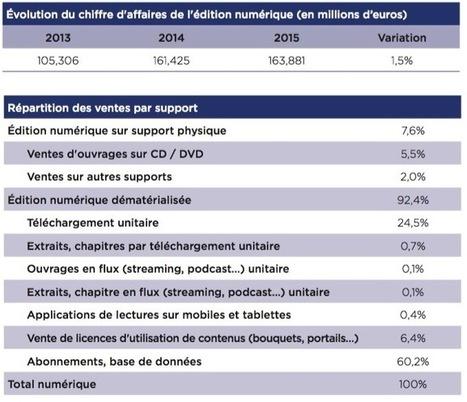 Le livre numérique en France : 2015, croissance et perspectives | L'édition numérique pour les pros | Scoop.it