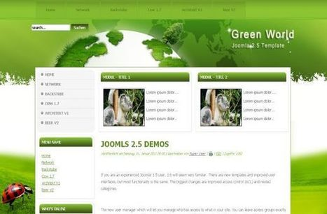Free Vector Green Nature Joomla Theme Template   CSSqwqwq   Scoop.it