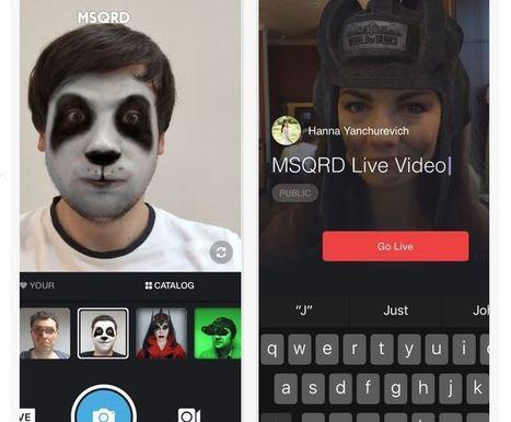 L'appli MSQRD permet maintenant à Facebook de faire du Snapchat | Chiffres et infographies | Scoop.it