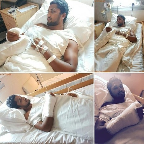(Photos) Chandimal undergoes surgery after being hit on the hand | Sri Lanka Cricket | Scoop.it