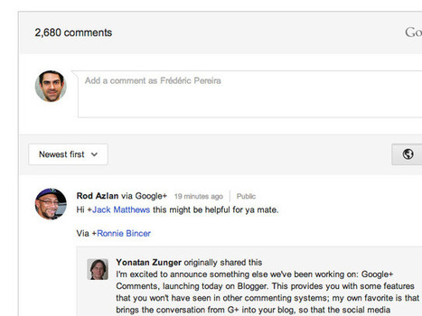 Intégrer les commentaires Google+ à n'importe quel site | Time to Learn | Scoop.it
