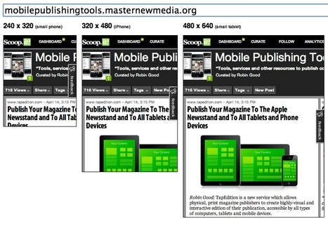 Test Your Website Mobile Responsiveness: Matt Kersley Responsive Test Control | Mobile Publishing Tools | Scoop.it