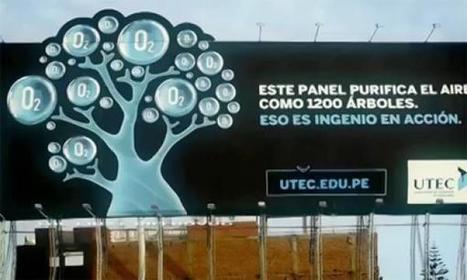 Purifier l'air avec un panneau publicitaire | Novae.ca | Développement durable et ses applications | Scoop.it