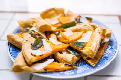 Butternut Squash Tart with Fried Sage | À Catanada na Cozinha Magazine | Scoop.it