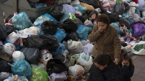 #Spain #protests Madrid strike goes on, rubbish piles up | Global politics | Scoop.it