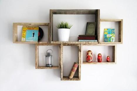 DIY Decorative Pallet Shelves for Storage | Upcycled Objects | Scoop.it