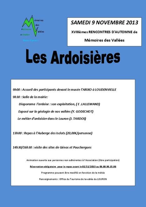Les ardoisières au programme des Rencontres d'automne de Mémoire des Vallées | Vallée d'Aure - Pyrénées | Scoop.it