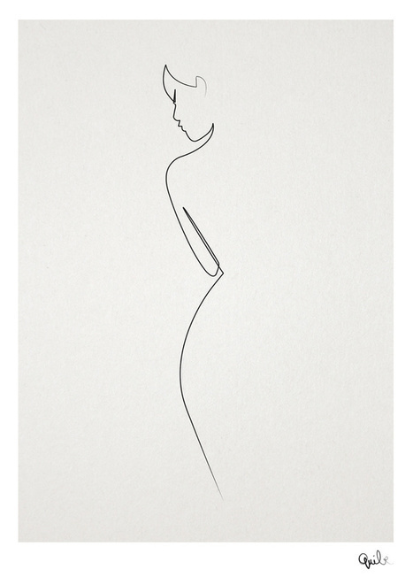 Amazing One-Line Illustrations Made With A Single, Continuous Pencil Stroke | xposing world of Photography & Design | Scoop.it