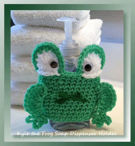 Kyle the Frog Soap Dispenser Holder | Crochet Patterns and Tutorials | Scoop.it