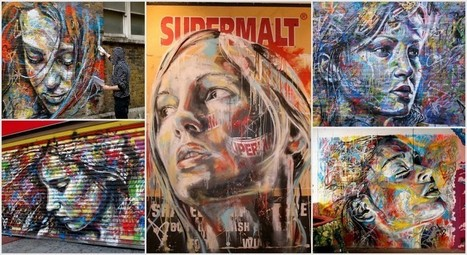 Street Art : Graffitis de portraits colorés surprenants par David Walker | Arts urbains | Scoop.it