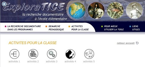 ExploraTICE : la recherche documentaire à l'école élémentaire | TICE, Web 2.0, logiciels libres | Scoop.it