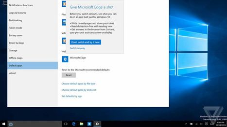 Microsoft really doesn't want Windows 10 users to switch to Chrome | The Verge | Ed Tech Chatter | Scoop.it