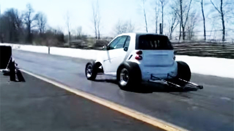 Watch: the drag-racing V8 Smart car | Technology | Scoop.it