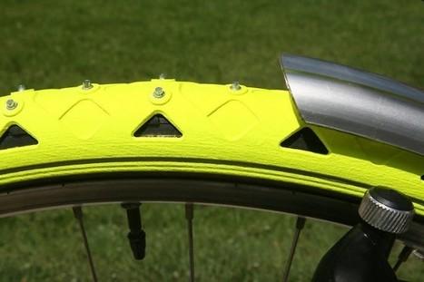 Ils ont inventé les pneus d'hiver vélo! Et ça marche!...   RoBot cyclotourisme   Scoop.it