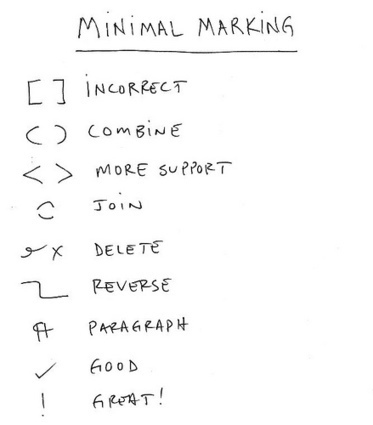 Minimal Marking | The Illustrated Professor | Minimal Marking in College Comp Courses | Scoop.it
