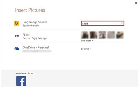 Insert Picture from Bing in PowerPoint 2013 | PowerPoint Tutorials | Scoop.it