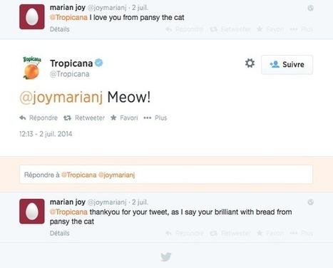 5 idées à puiser dans le CM Twitter de Tropicana | Be Marketing 3.0 | Scoop.it