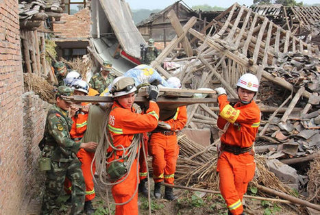 Rescue workers in China finally reach quake ravaged region to help people ... - Scrape TV | Acts of heroism | Scoop.it