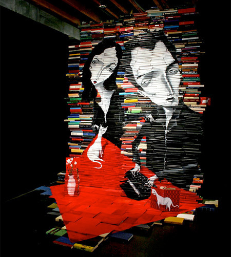 Old Books Used as Canvas | Art, Design & Technology | Scoop.it