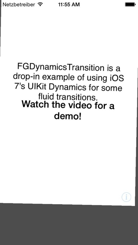FGDynamicsTransition for iOS - Cocoa Controls | Mobile programming reminder | Scoop.it