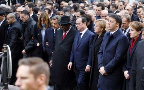 Marche pour Charlie Hebdo : comment Nicolas Sarkozy a presque réussi à s'inviter sur une photo historique | Images fixes et animées - Clemi Montpellier | Scoop.it