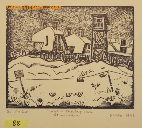 Jacques Gotko: Front - Stalag 122, Compiegne - general view Artwork made in 1942 | Archives  de la Shoah | Scoop.it